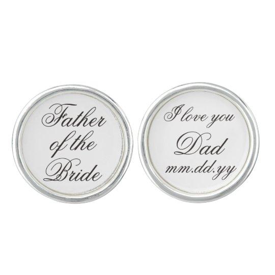 Father Of The Bride Gift Wedding Present Cufflinks Zazzle Com