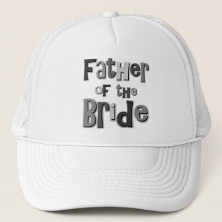 Father of the Bride Gray Trucker Hat