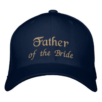 Father of the Bride Hat Embroidered Hats