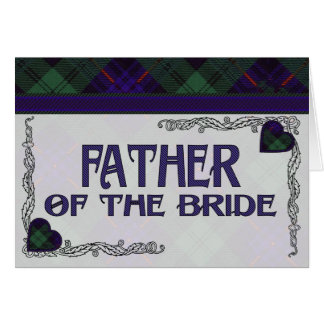 Father of the Bride Invitation - Armstrong Tartan Greeting Card