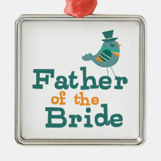Father of the Bride Metal Ornament