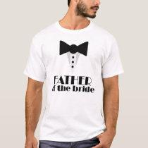 Father of the Bride Mock Tuxedo Wedding T-shirt