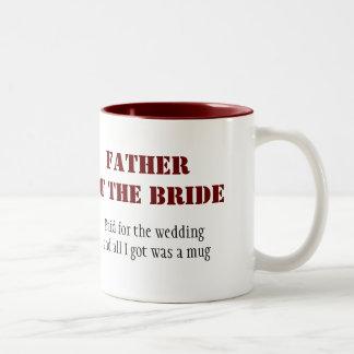 Father of the Bride Two-Tone Coffee Mug