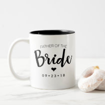 Father of the Bride Mug Personalize Your Date