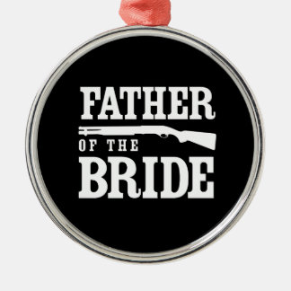 Father of the Bride Round Metal Christmas Ornament