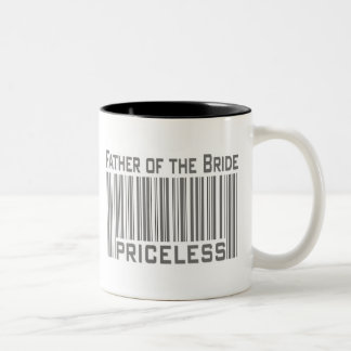 Father of the Bride Priceless Two-Tone Coffee Mug