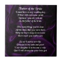 Father of the Bride - Purple Silk Tile