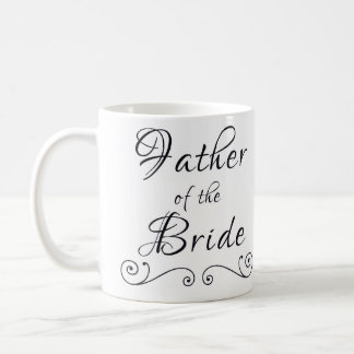 Father of the bride text only mug