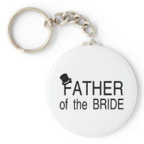 Father Of The Bride Top Hat Key Chains