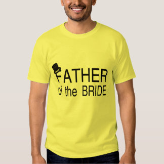 Father Of The Bride Top Hat Tee Shirt