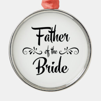 Father of the Bride Vintage Metal Ornament