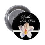 Father Of The Bride  Wedding ID Badge Pinback Buttons