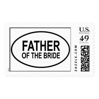 Father of the Bride Wedding Oval Postage