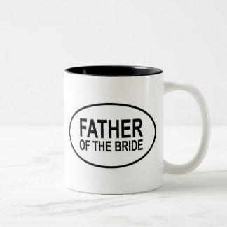 Father of the Bride Wedding Oval Two-Tone Coffee Mug