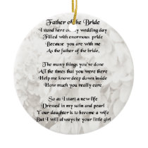 Father of the Bride - White Ceramic Ornament
