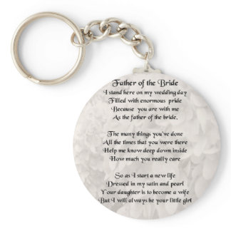 Father of the Bride - White Keychain