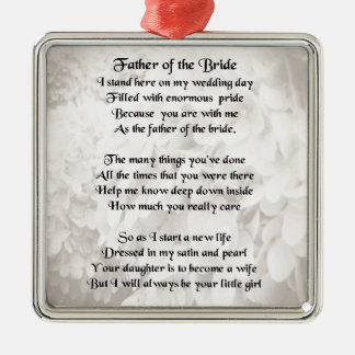 Father of the Bride - White Metal Ornament