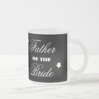 Father of the BRIDE with Hearts A01A5 Frosted Glass Coffee Mug