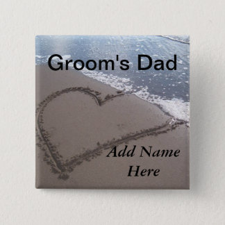 Father Of The Groom Beach Wedding Button