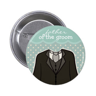 Father of the Groom // BLUE Pinback Button