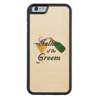 Father of the Groom Champagne Toast Carved Maple iPhone 6 Bumper Case