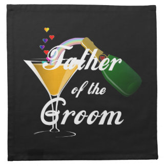 Father of the Groom Champagne Toast Cloth Napkin