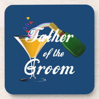 Father of the Groom Champagne Toast Coaster