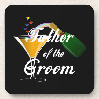 Father of the Groom Champagne Toast Beverage Coasters