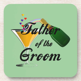 Father of the Groom Champagne Toast Drink Coaster
