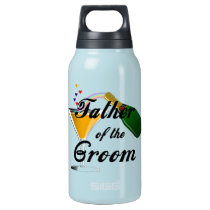 Father of the Groom Champagne Toast Insulated Water Bottle