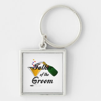 Father of the Groom Champagne Toast Keychain