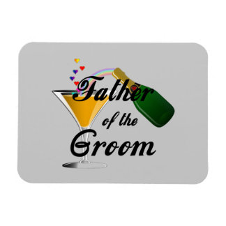 Father of the Groom Champagne Toast Magnet