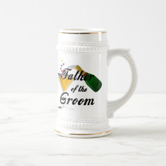 Father of the Groom Champagne Toast 18 Oz Beer Stein