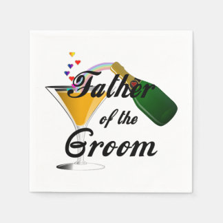 Father of the Groom Champagne Toast Napkin