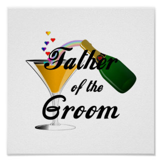 Father of the Groom Champagne Toast Poster