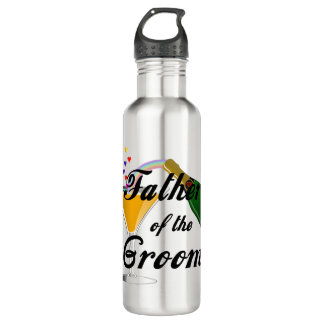 Father of the Groom Champagne Toast Stainless Steel Water Bottle