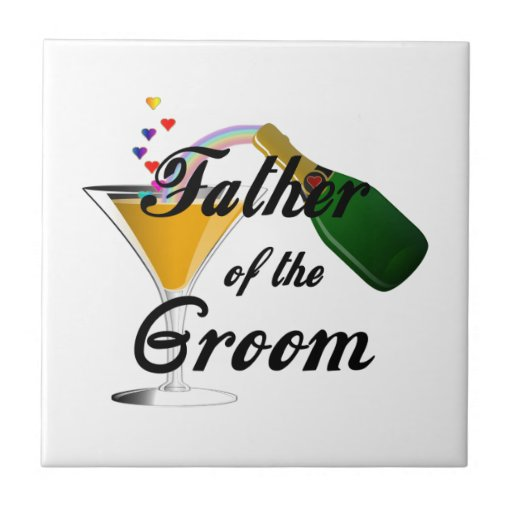Father Of The Groom Champagne Toast Tile