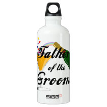 Father of the Groom Champagne Toast Water Bottle