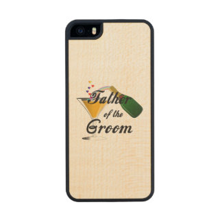 Father of the Groom Champagne Toast Wood Phone Case For iPhone SE/5/5s