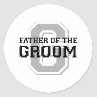 Father of the Groom Cheer Classic Round Sticker
