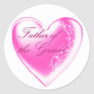 Father of the Groom Classic Round Sticker