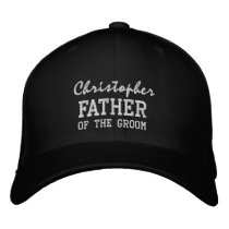 FATHER of the GROOM Custom Name V002 Embroidered Baseball Cap
