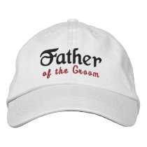 FATHER of the GROOM Custom Name WHITE B1 Embroidered Baseball Hat