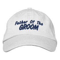 Father of the Groom Embroidered Baseball Cap