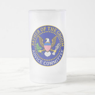 Father Of The Groom Frosted Glass Beer Mug