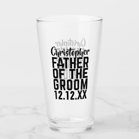 Father of the Groom Glass Tumbler