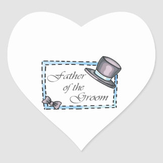 FATHER OF THE GROOM HEART STICKER