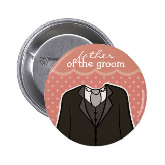 Father of the Groom // PINK 2 Inch Round Button