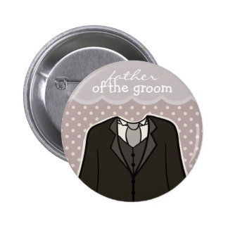 Father of the Groom // PURPLE 2 Inch Round Button