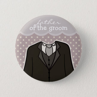 Father of the Groom // PURPLE Pinback Button